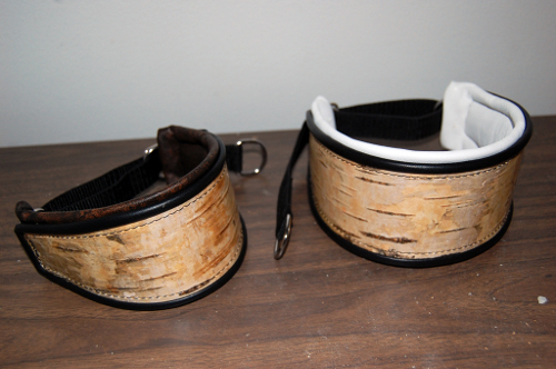 Kaulapanta tuohesta - Dog collar made of birch bark